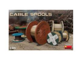 diorama  - Cable Spools  - 1:35 - MiniArt - 35583 - mna35583 | The Diecast Company