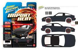 Nissan  - 240SX Custom 1990 black - 1:64 - Johnny Lightning - cp7130 - jlcp7130 | The Diecast Company