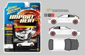 Honda  - Civic 2000 white/black/red - 1:64 - Johnny Lightning - cp7135 - jlcp7135 | The Diecast Company