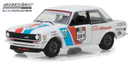 Datsun  - 510 1972 blue/white/red - 1:64 - GreenLight - 35110A - gl35110A | The Diecast Company
