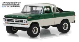 Ford  - F-100 1971 grey/green - 1:64 - GreenLight - 35110B - gl35110B | The Diecast Company