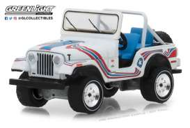 Jeep  - CJ-5 1976 white/red/blue - 1:64 - GreenLight - 35110C - gl35110C | The Diecast Company