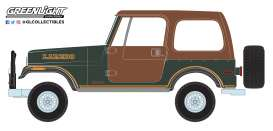 Jeep  - CJ-7 1980 brown/green - 1:64 - GreenLight - 35110D - gl35110D | The Diecast Company