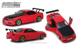 Nissan  - Skyline GT-R R34 1999 red - 1:18 - GreenLight - 19052 - gl19052 | The Diecast Company