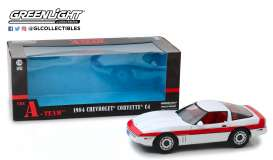 Chevrolet  - Corvette C4 *A-Team* 1984 white/red - 1:18 - GreenLight - 13532 - gl13532 | The Diecast Company