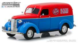 Chevrolet  - Panel Truck 1939 blue/red - 1:24 - GreenLight - 85022 - gl85022 | The Diecast Company