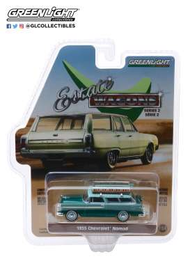 Chevrolet  - Nomad 1955 green/blue - 1:64 - GreenLight - 29930B - gl29930B | The Diecast Company