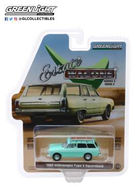 Volkswagen  - Type 3 1965 green - 1:64 - GreenLight - 29930C - gl29930C | The Diecast Company