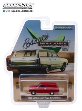 Volkswagen  - Type 3 1968 red - 1:64 - GreenLight - 29930D - gl29930D | The Diecast Company