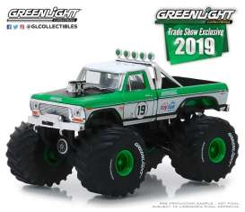 Ford  - F-250 1974 white/green - 1:64 - GreenLight - 30006 - gl30006 | The Diecast Company