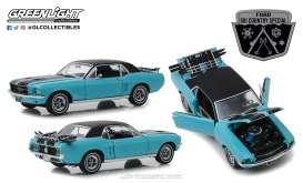 Ford  - Mustang 1967 turquoise - 1:18 - GreenLight - 13535 - gl13535 | The Diecast Company