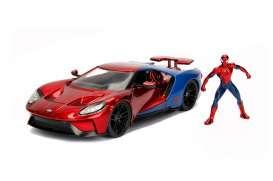 Ford  - GT *Spiderman* 2017 red/blue - 1:24 - Jada Toys - 99725 - jada99725 | The Diecast Company