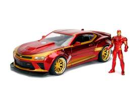 Chevrolet  - Camaro *Iron Man* 2016 red/gold - 1:24 - Jada Toys - 99725 - jada99724 | The Diecast Company