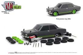 Datsun  - 510 1970 grey/green - 1:24 - M2 Machines - 47000-06A - M2-47000-06A | The Diecast Company