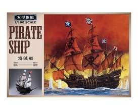 Boats  - Pirate Ship  - 1:100 - Aoshima - 155007 - abk155007 | The Diecast Company