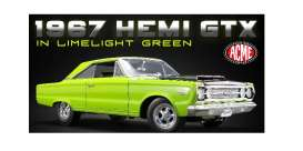 Plymouth  - GTX 1967 lime light green - 1:18 - Acme Diecast - 1806703 - Acme1806703 | The Diecast Company