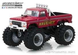 Ford  - F-250 Monster Truck 1973 red - 1:64 - GreenLight - 49020A - gl49020A | The Diecast Company