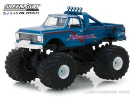 Chevrolet  - K10 Monster Truck 1972 blue - 1:64 - GreenLight - 49020D - gl49020D | The Diecast Company