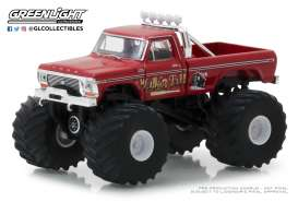Ford  - F-250 Monster Truck 1979 red - 1:64 - GreenLight - 49020E - gl49020E | The Diecast Company