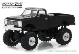 Chevrolet  - K10 Monster Truck 1972 black - 1:64 - GreenLight - 49020F - gl49020F | The Diecast Company
