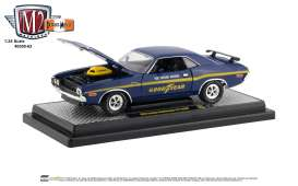 Dodge  - Challenger 1970 blue/yellow - 1:24 - M2 Machines - 40300-63A - M2-40300-63A | The Diecast Company