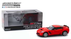 Chevrolet  - Corvette Coupé 2019 torch red - 1:24 - GreenLight - 18251 - gl18251 | The Diecast Company