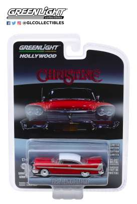 Plymouth  - Fury *Christine* 1958 red - 1:64 - GreenLight - 44830C - gl44830C | The Diecast Company