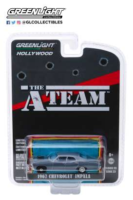 Chevrolet  - Impala Sedan *A-Team* 1967 grey-blue - 1:64 - GreenLight - 44830D - gl44830D | The Diecast Company