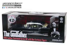 Cadillac  - 1955 black - 1:18 - GreenLight - 13531 - gl13531 | The Diecast Company