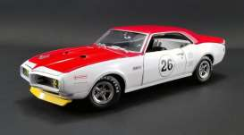 Pontiac  - Trans Am 1968 white/red - 1:18 - Acme Diecast - 1805210 - acme1805210 | The Diecast Company