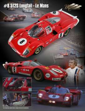 Ferrari  - 512S Long Tail #8 1971  - 1:18 - Acme Diecast - M1801003 - acmeM1801003 | The Diecast Company