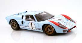 Ford  - GT40 MKII #1 Ken Miles 1966 gulf blue/orange - 1:12 - Acme Diecast - M1201003 - acmeM1201003 | The Diecast Company