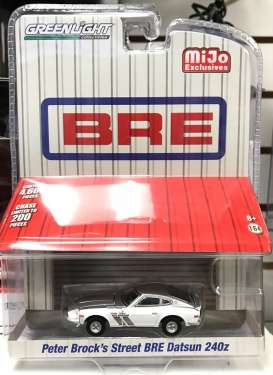 Datsun  - 240Z BRE *Peter Brock* 1971 silver/white - 1:64 - GreenLight - 51157 - gl51157 | The Diecast Company