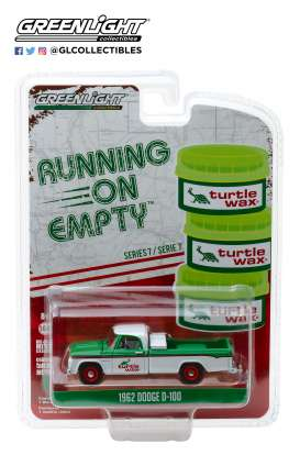 Dodge  - D-100 1962 white/green/red - 1:64 - GreenLight - 41070B - gl41070B | The Diecast Company