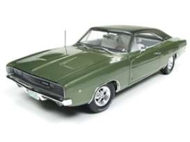 Dodge  - Charger 1968 green - 1:18 - Auto World - AMM1140 - AMM1140 | The Diecast Company
