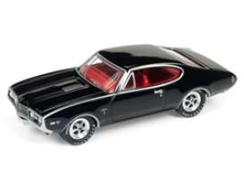 Oldsmobile  - Cutlass 1968 black/red - 1:64 - Johnny Lightning - SP034 - JLSP034 | The Diecast Company