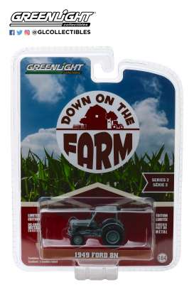 Ford  - 8N Tractor 1949 grey - 1:64 - GreenLight - 48020B - gl48020B | The Diecast Company