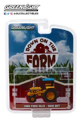 Ford  - 5610 Tractor 1986 yellow/blue - 1:64 - GreenLight - 48020D - gl48020D | The Diecast Company