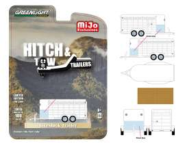 Trailer  - Livestock white - 1:64 - GreenLight - 51212 - gl51212 | The Diecast Company