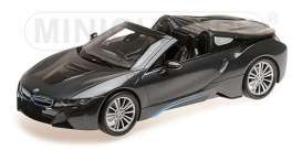 BMW  - I8 Roadster 2017 grey metallic - 1:18 - Minichamps - 155027030 - mc155027030 | The Diecast Company