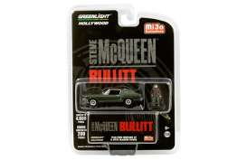 Ford  - Mustang *Bullitt* 1968 green - 1:64 - GreenLight - 51207 - gl51207 | The Diecast Company