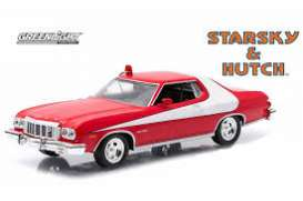 Ford  - Gran Torino chrome/red - 1:64 - GreenLight - 51224 - gl51224 | The Diecast Company