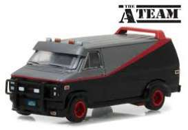 GMC  - Vandura *A-Team* chrome/grey/black - 1:64 - GreenLight - 51225 - gl51225 | The Diecast Company