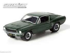 Mustang  - Bullitt chrome/green - 1:64 - GreenLight - 51226 - gl51226 | The Diecast Company