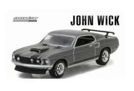 Mustang  - chrome/grey - 1:64 - GreenLight - 51228 - gl51228 | The Diecast Company