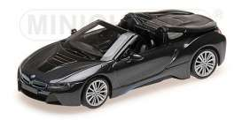 BMW  - I8 Roadster 2017 grey metallic - 1:43 - Minichamps - 410027030 - mc410027030 | The Diecast Company