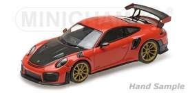 Porsche  - 911 2018 orange - 1:43 - Minichamps - 410067229 - mc410067229 | The Diecast Company