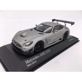 Mercedes Benz  - AMG GT3 2017 matt silver - 1:43 - Minichamps - 410173202 - mc410173202 | The Diecast Company