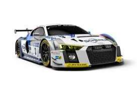 Audi  - R8 LMS 2018 white/grey/blue - 1:43 - Minichamps - 410181703 - mc410181703 | The Diecast Company
