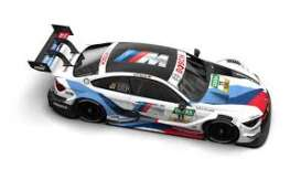 BMW  - M4 2018 white/black/blue - 1:43 - Minichamps - 410182411 - mc410182411 | The Diecast Company